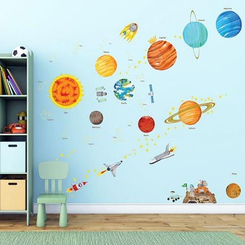 Large Solar System Wall Stickers resize - KIDIKO Handmade ...