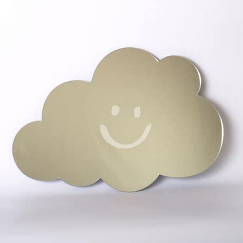 Smiley Cloud Mirror 45cm Kidikoie Personalised Baby Gifts