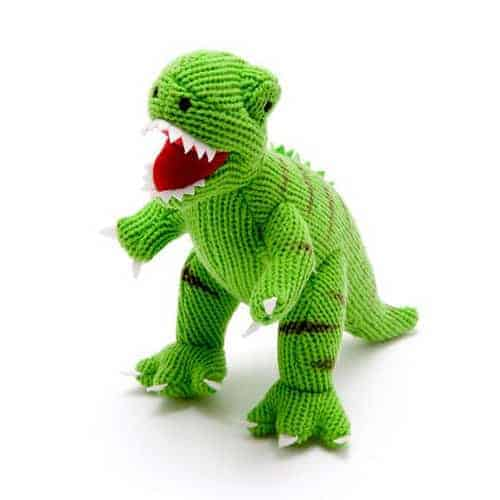 Large Knitted Dinosaur Green T-Rex