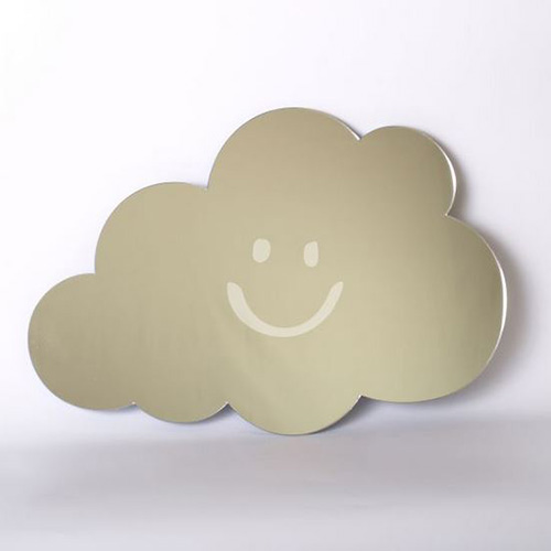 Smiley Cloud Mirror 45cm