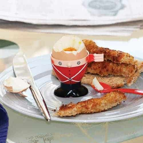 Soldier egg cup