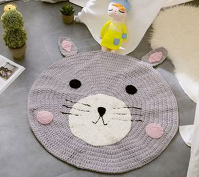 Handmade Bear Shaped Kids Rug