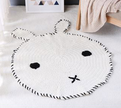 Handmade Bunny Shaped Kids Rug
