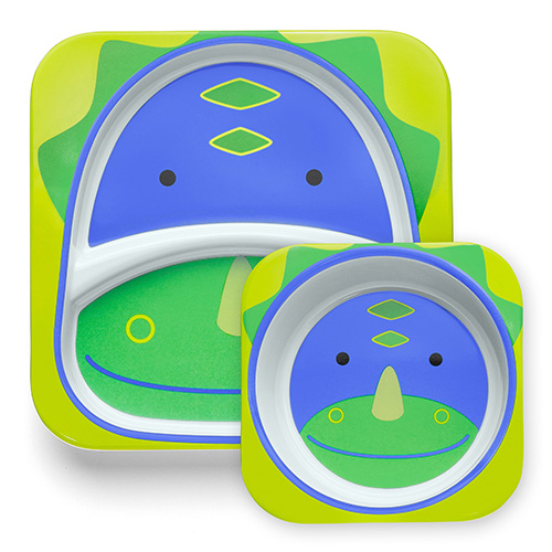 Skip Hop Plate and Bowl Set Dinosaur