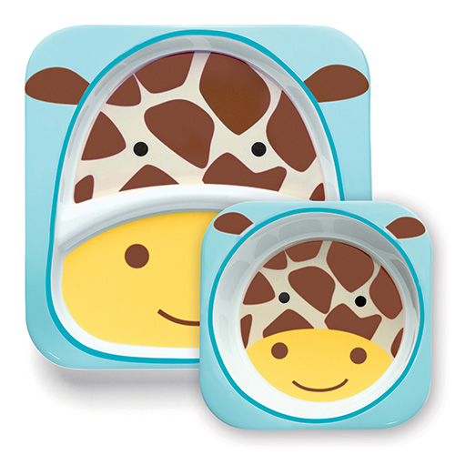 Skip Hop Plate and Bowl Set Giraffe