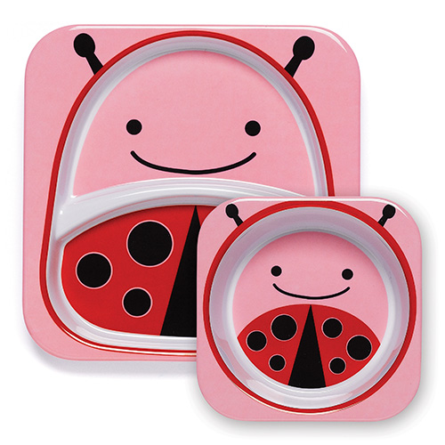Skip Hop Plate and Bowl Set Ladybug