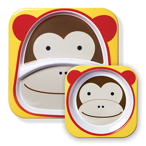 Skip Hop Plate and Bowl Set Monkey