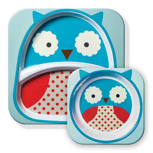 Skip Hop Plate and Bowl Set Owl