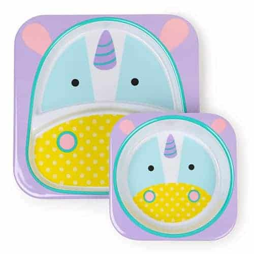 Skip Hop Plate and Bowl Set Unicorn