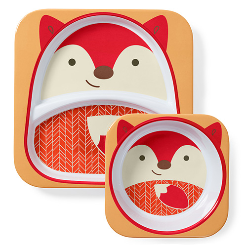 Skip Hop Plate and Bowl Set Fox