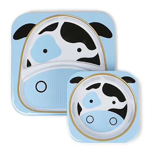 Skip Hop Plate and Bowl Set Cow