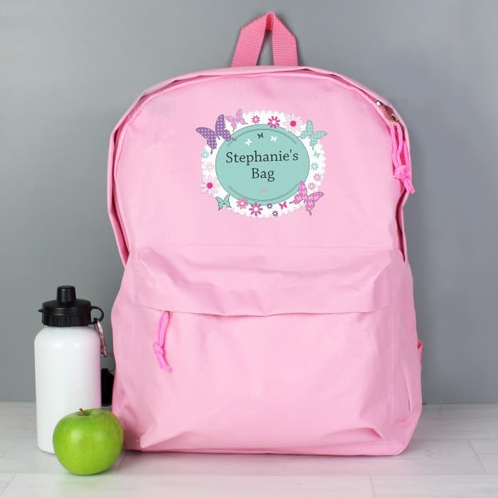 dbed8845ea Bixbee Sparkalicious Pink Butterfly Backpack Small