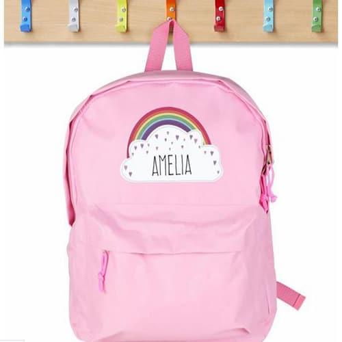 Personalised Pink Cloud Backpack