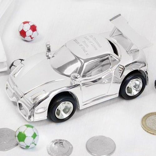 Personalised Race Car Money Box