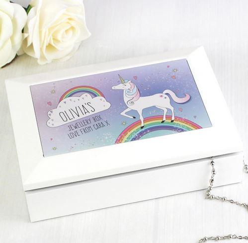 Personalised Unicorn Jewellery Box Kidiko Ie Personalised Baby