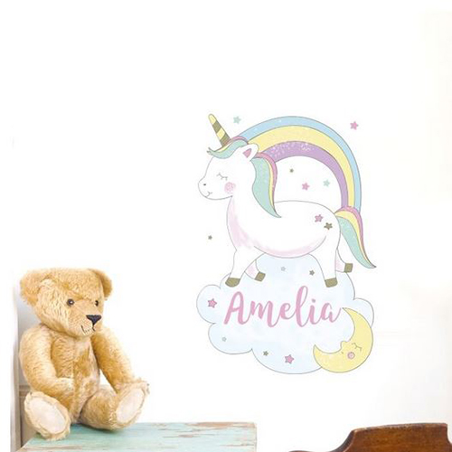 Personalised Unicorn Wall Sticker