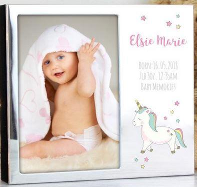 Personalised Unicorn Photo Frame 6 x 4