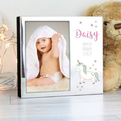 Personalised Unicorn Photo Frame Album 6 x 4