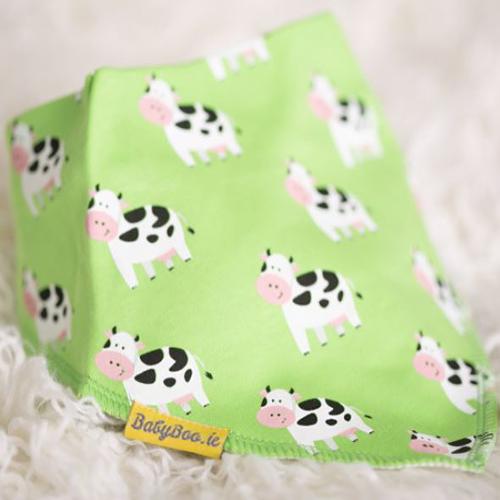 Babyboo Bib Green Bessie Cow