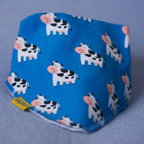 Blue Bessie The Cow Bandana Bib
