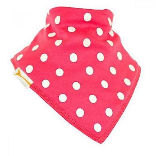 Bold Pink & White Spots Bandana Bib
