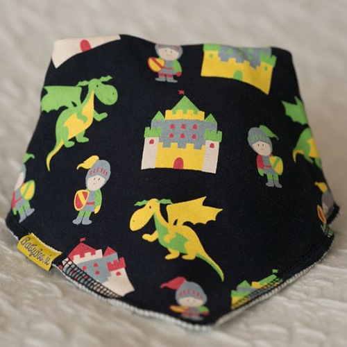 Knights and Dragons Bandana Bib