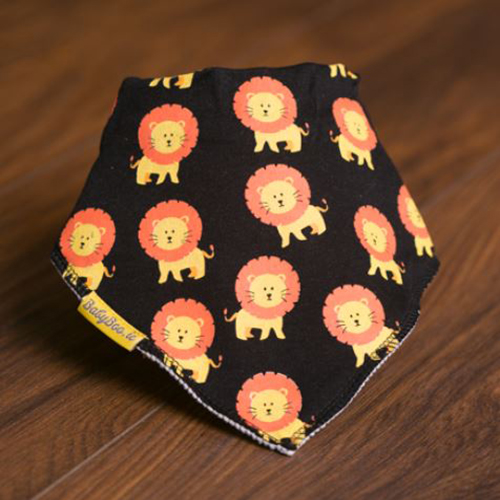 Black Larry The Lion bandana bib