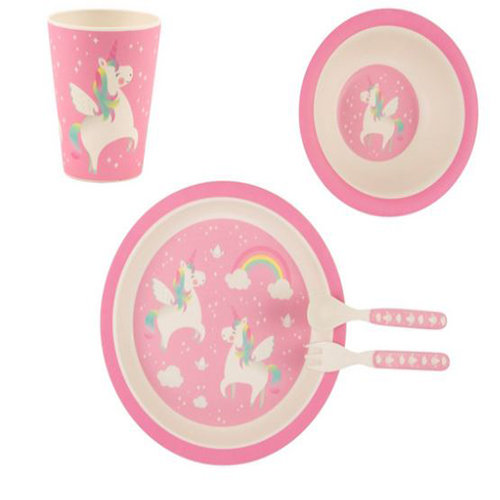 Rainbow Unicorn Tableware Set