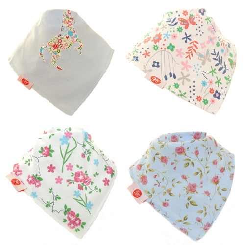 Zippy Baby Bandana Dribble Bib 4 pack Delicate Blues