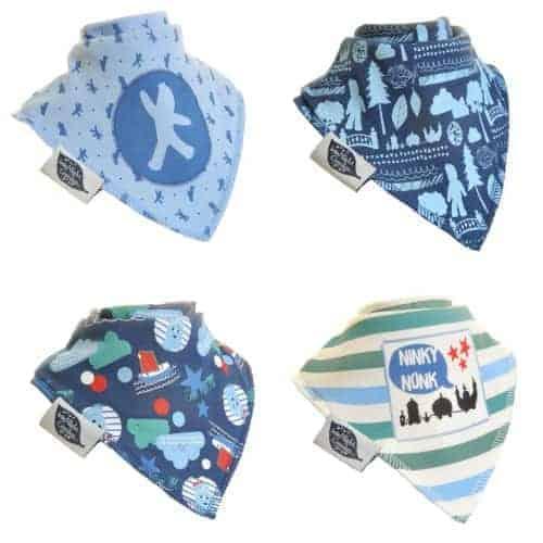In the Night Garden Baby Boy Bandana Dribble Bib 4 pack