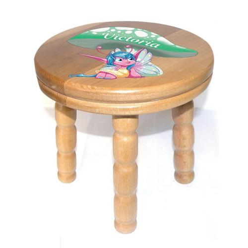 Personalised Children S Pixie Wooden Stool Kidiko Ie