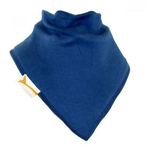 Blue Plain Medium Bandana Bib