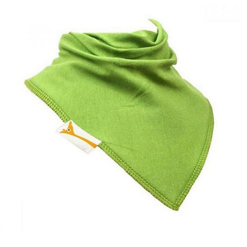 Lime Green Plain Bandana Bib