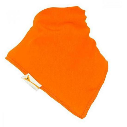 Orange Plain Bandana Bib