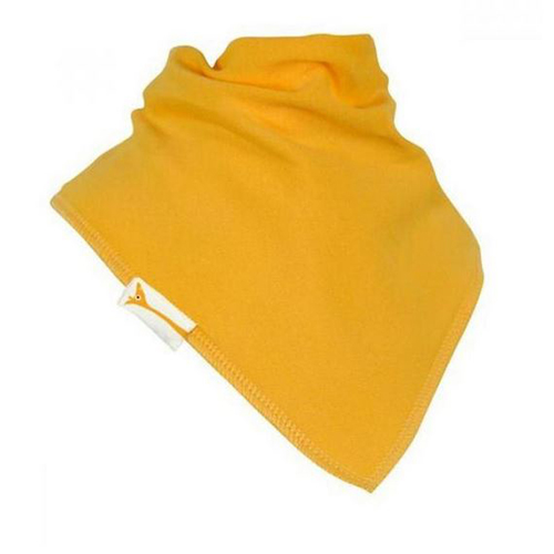 Pale Yellow Plain Bandana Bib