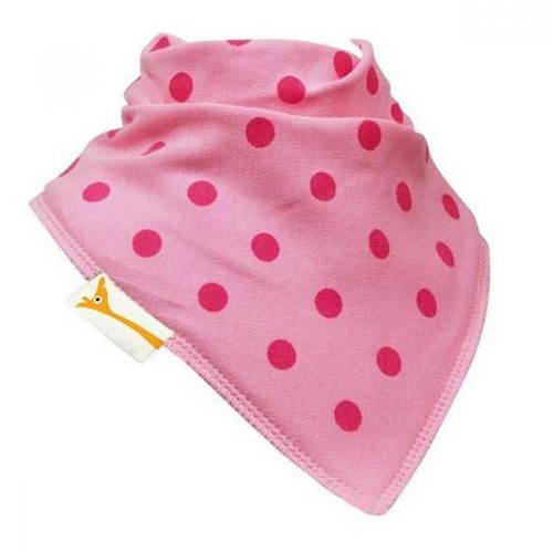 Pink & Pink Spots Bandana Bib