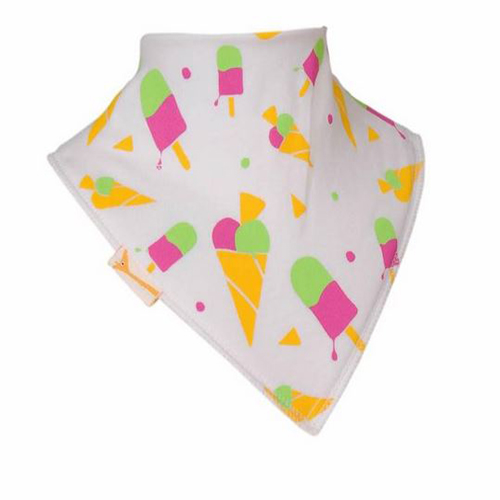 White Ice Cream & Lollies Bandana Bib