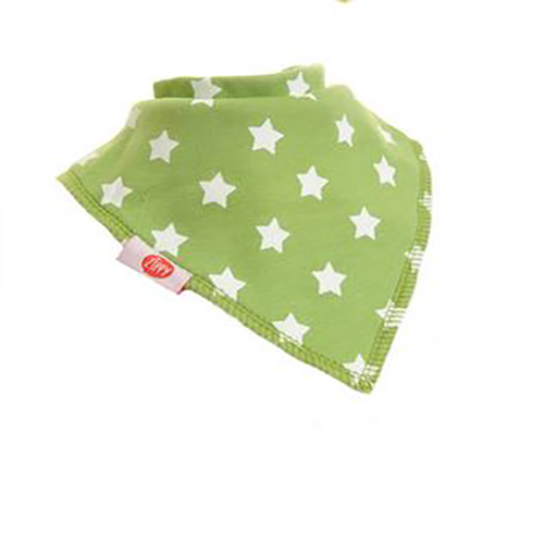 Green with White Stars Bandana Bib