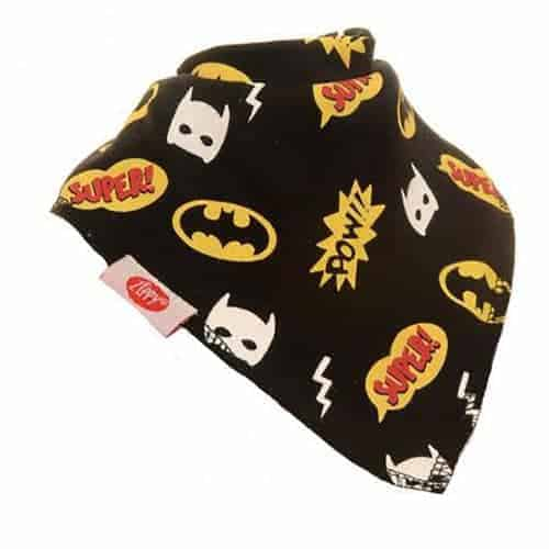 Superhero Black Bandana Bib