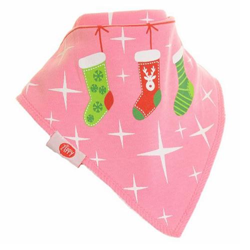 Christmas Stocking Pink Christmas Bib