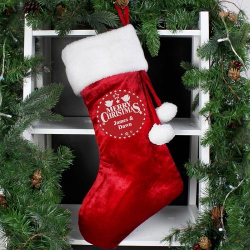 Personalised Christmas Wishes Luxury Stocking