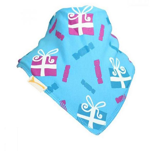 Blue and Pink Presents Christmas Bib