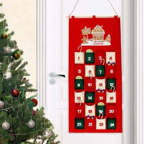 Personalised Gingerbread House Felt Advent Calendar
