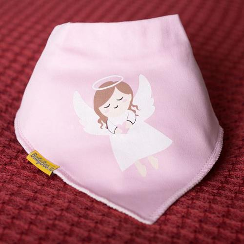 Aine Angel Pink Chrsitmas Bib