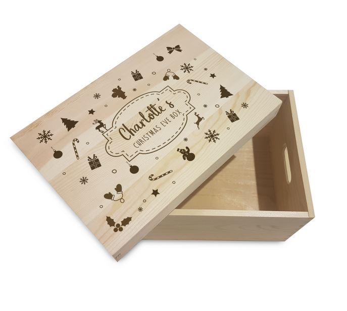 Christmas Motif Personalised Christmas Eve Box