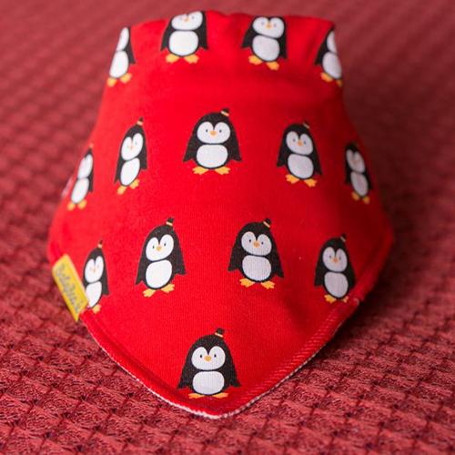 Pingu Penguins Red Christmas Bib