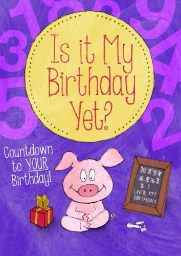 Personalised Is It My Birthday Yet? Book
