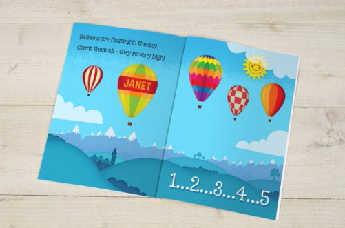 Personalised Counting Birthday Book