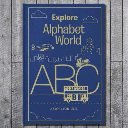 Personalised Alphabet World Embossed Classic Hardcover
