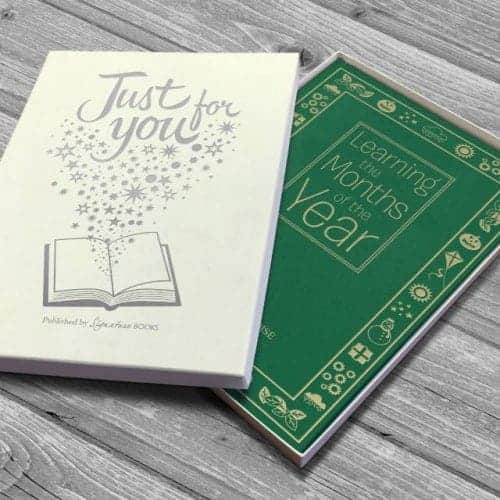 Personalised Months Of The Year Embossed Classic Hardcover